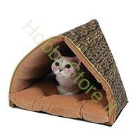 Immagine di Cuccia per gatto Prestige Tenda nera e oro
