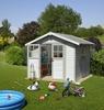 Immagine di Casetta da giardino Deco 7,5 bianco/blu Grosfillex