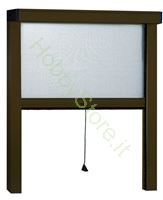 Immagine di Zanzariere Alluminio Marrone Sottili  cm.100x170