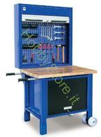 Immagine di Banco da lavoro pianale in legno e gomma 1000x700x910