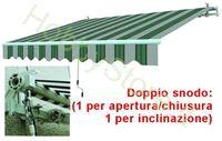 Immagine di Tende Da Sole Avvolgibili A Sbraccio Bia/Verde cm.395x250