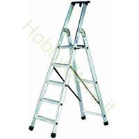 Scala Alluminio quadra EN131 - 5 gradini