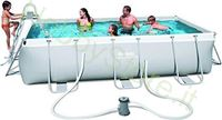 Piscina Power Steel 4.04m x 2.01m x 1.00m Rectangular Pool Set
