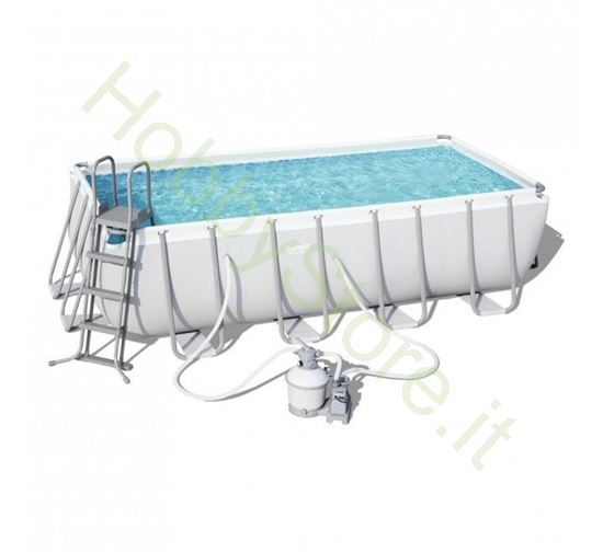 Piscina Power Steel 4.88m x 2.44m x 1.22m Rectangular Pool Set