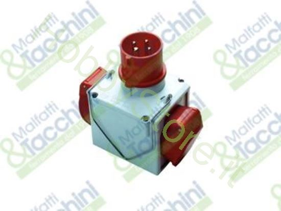Picture of Adattatore Cee Doppio 380V Cod. 126658