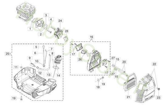 serbatoio e filtro aria per bc 350 s