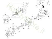 Avviamento e frizione per BC 400 S