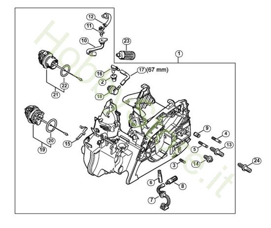 Carcassa Motore MS 181 Stihl