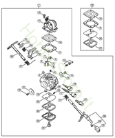 Carburatore C1Q (27.2013),(02.2011) MS 181 Stihl