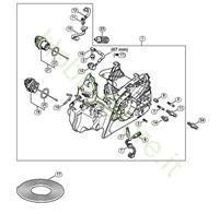 Carcassa e motore MS 211 Stihl