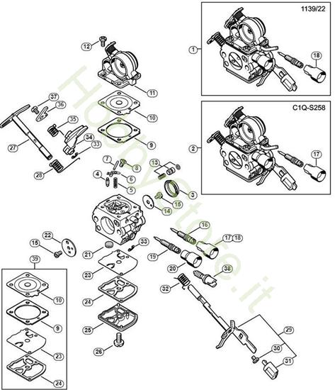 Carburatore 1139/22, C1Q-S268 MS 211 Stihl